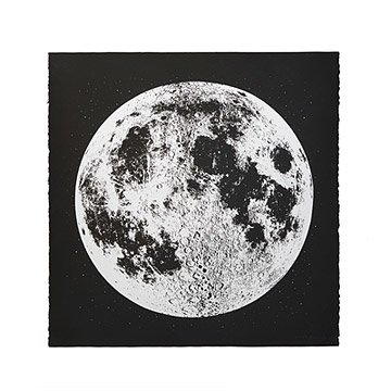 Silver Moon Screenprint