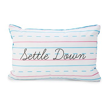 Settle Down Penmanship Pillow