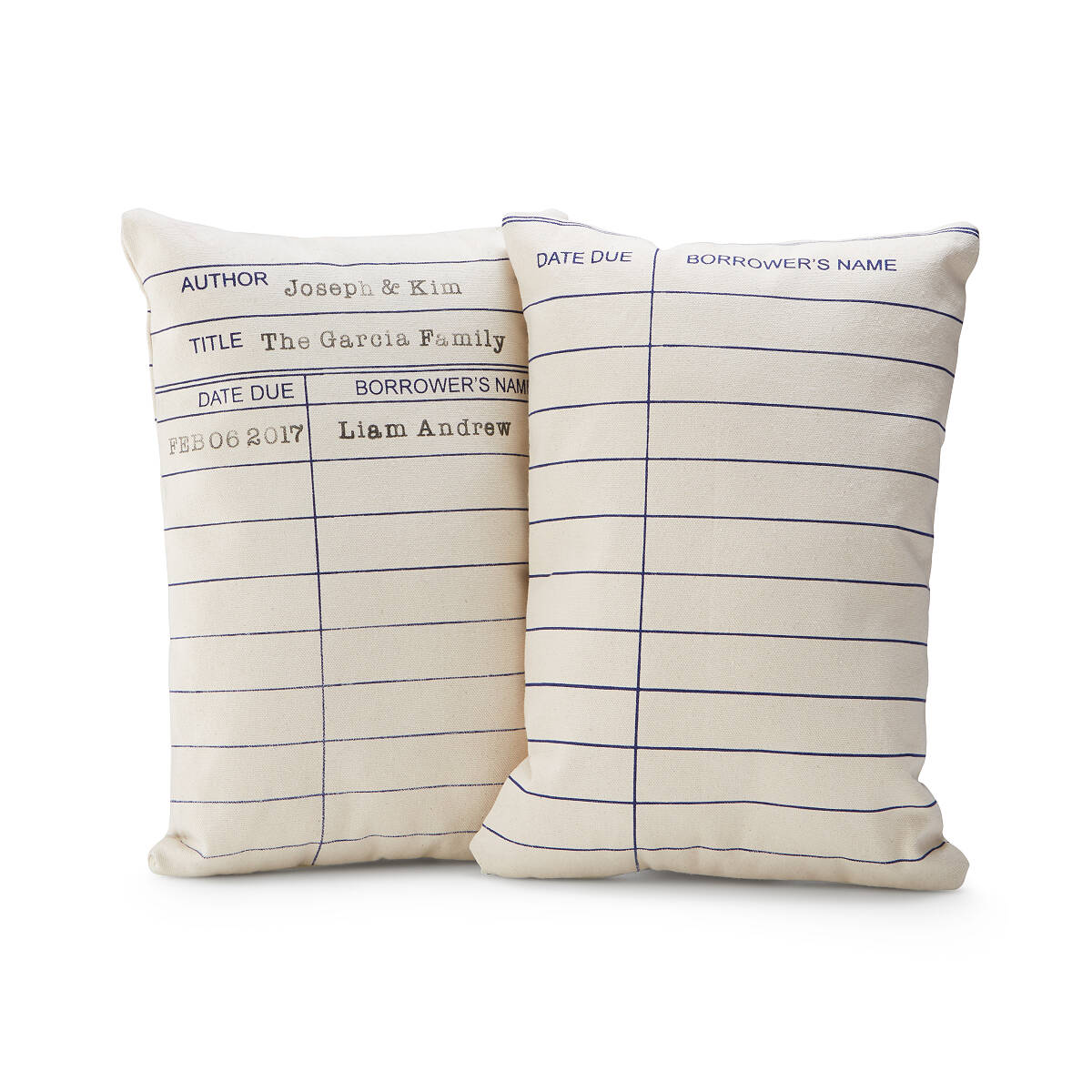 Personalized Library Card Pillow | Throw Pillows, Decorative ...