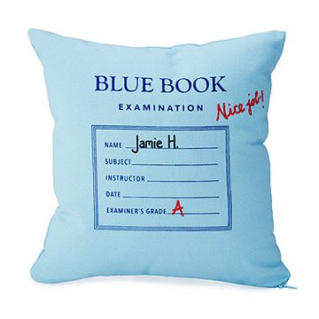Personalized Blue Book Pillow