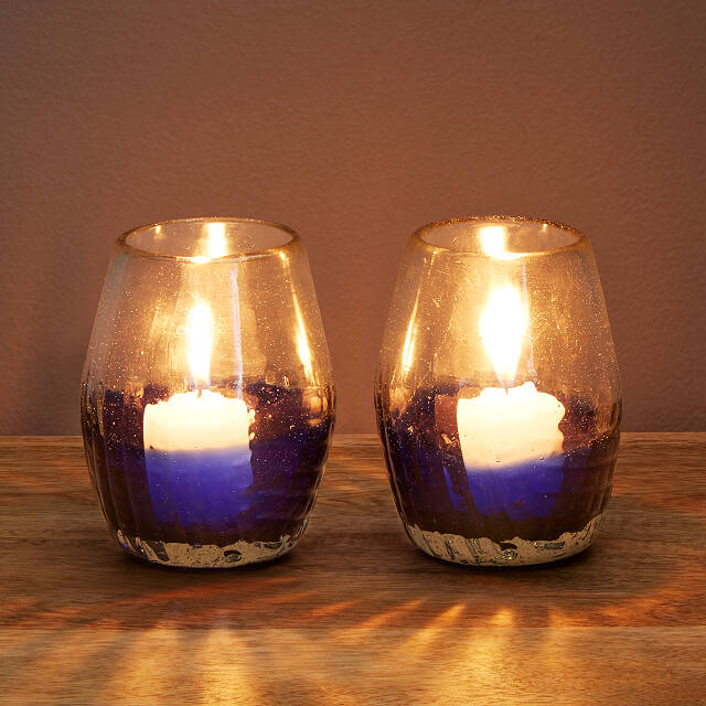 Mirage Votive Holders - Set of 2