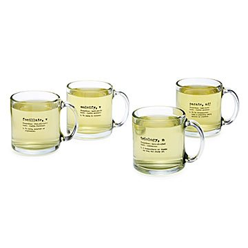 Life by Definition Tea Mugs - Set of 4