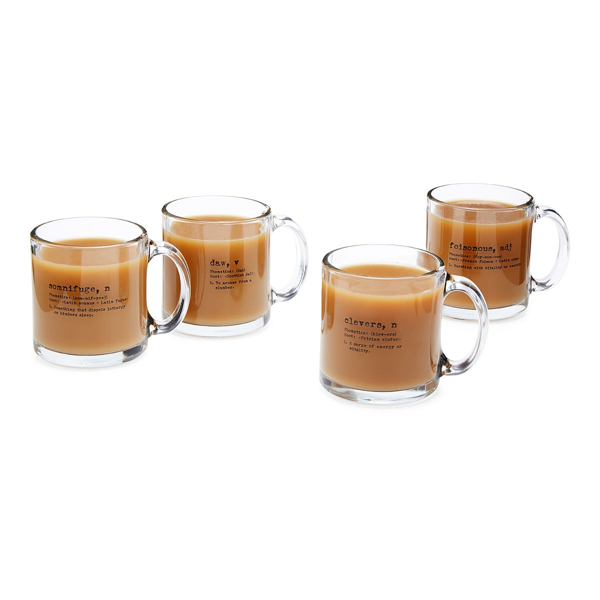 life by definition coffee mugs  set of   playful glass coffee  - life by definition coffee mugs  set of   thumbnail