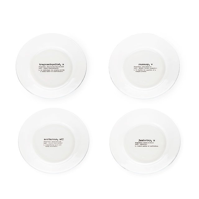 Life by Definition Dessert Plates - Set of 4