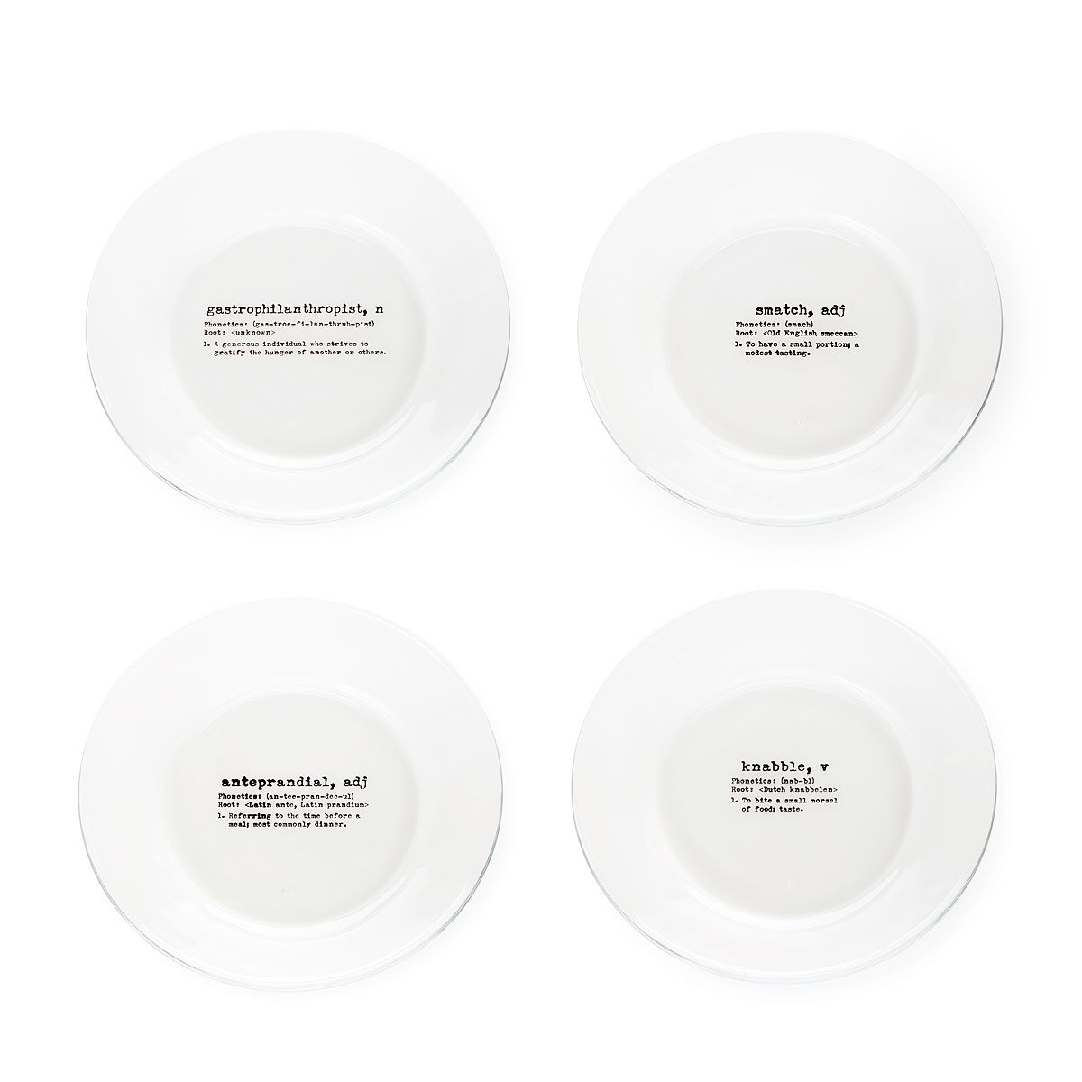 life by definition appetizer plates set of 4 1 thumbnail - Horderves Plates