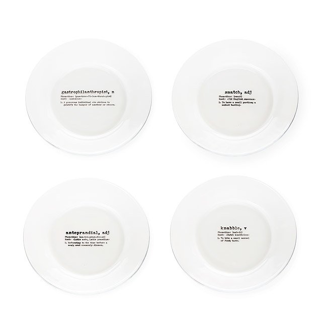 Life by Definition Appetizer Plates - Set of 4