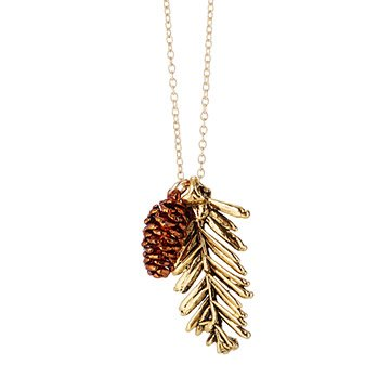 Redwood Needles and Pinecone Pendant