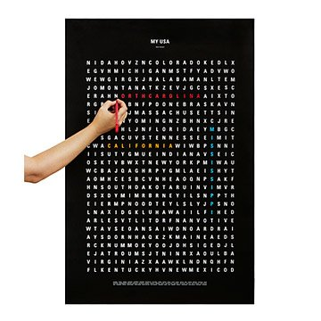 USA Word Search Travel Poster