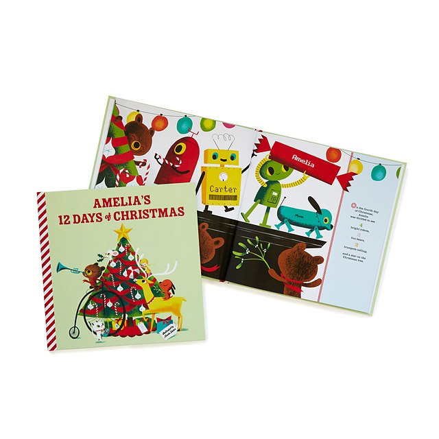 Personalized 12 Days of Christmas Book