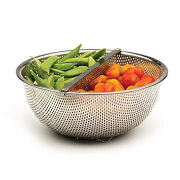Duo Section Colander with Detachable Divider
