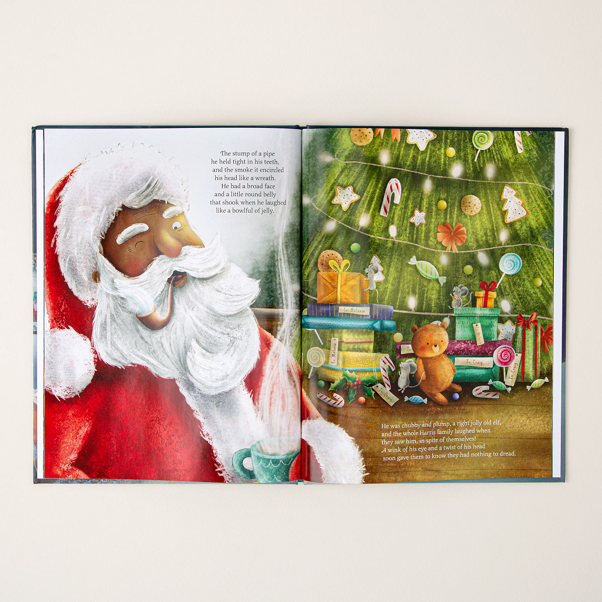 personalized night before christmas book custom kids holiday