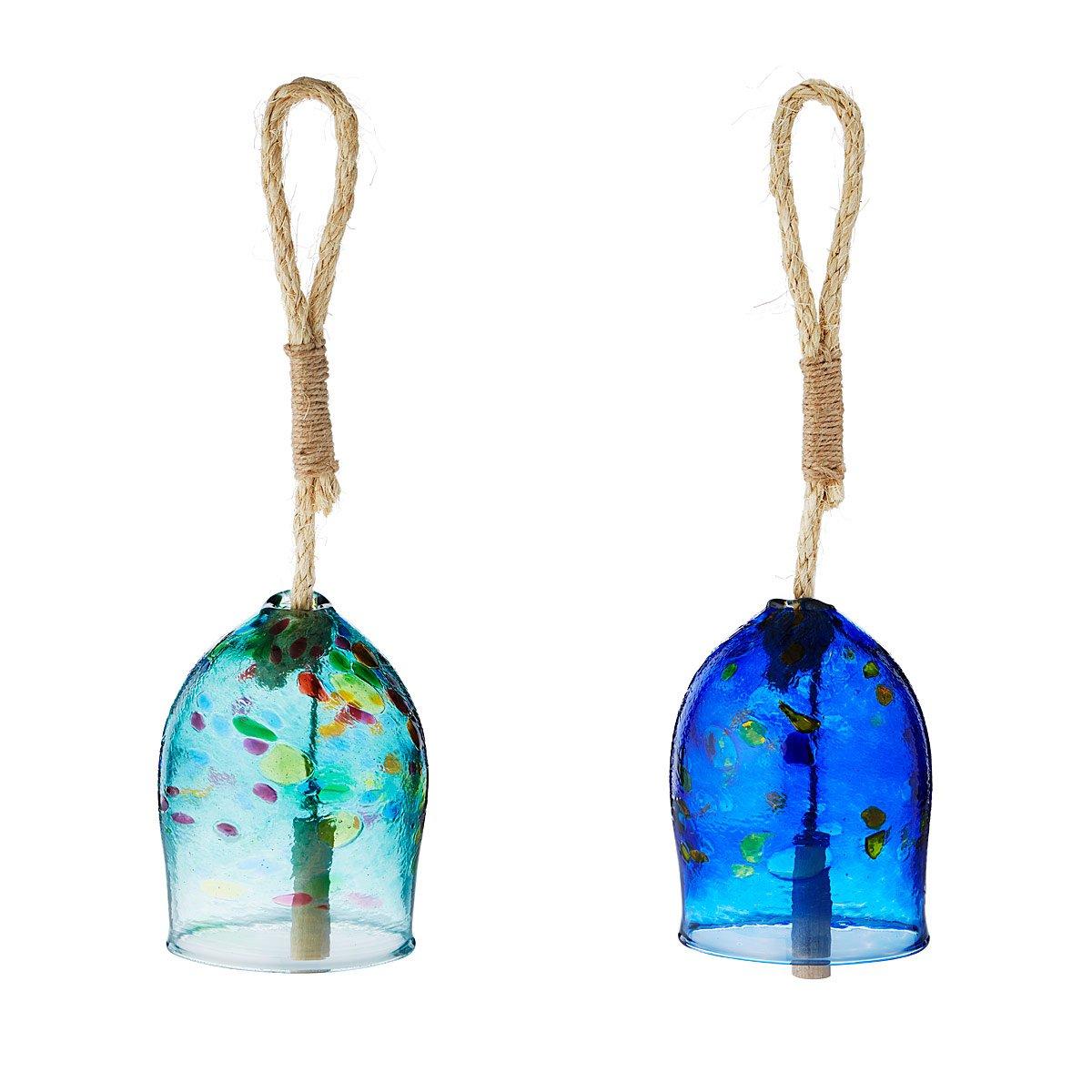 Glass Garden Bells wind chime UncommonGoods