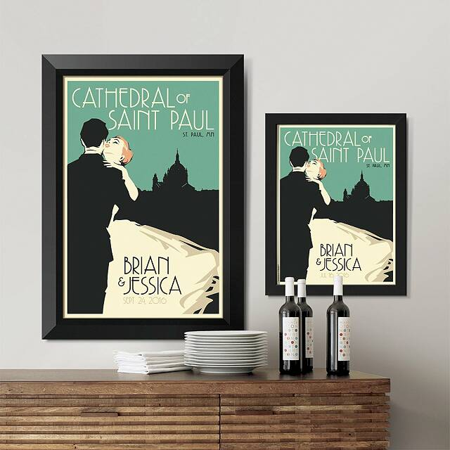 Personalized Skyline Wedding Art