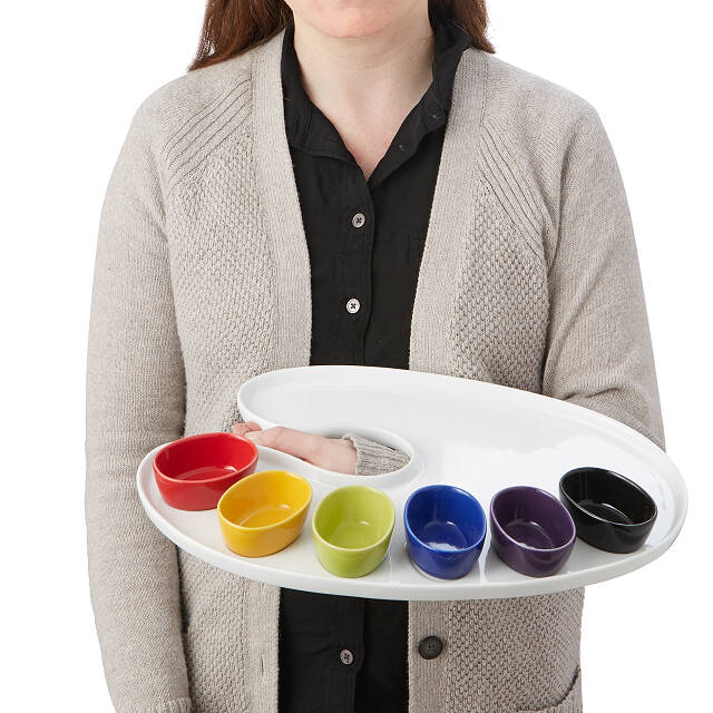 Serving Palette with Bowls