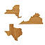 Wooden States of America Magnetic Key Holders 3 thumbnail