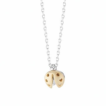 Mixed Metals Ladybug Necklace
