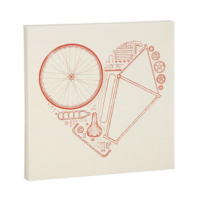 Bike Parts Heart Print Bicycle Art Bike Parts Uncommongoods
