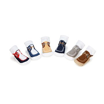 Boat Shoes Baby Socks- Set of 6