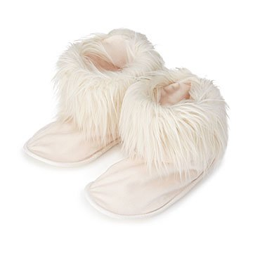 Faux Fur Low Bootie Warming Slippers