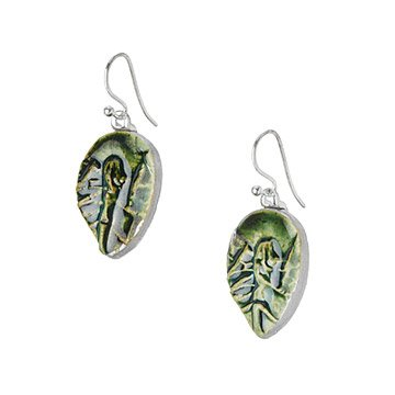 Forget-Me-Not Leaf Earrings