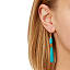 Teal Tagua Drop Earrings 2 thumbnail