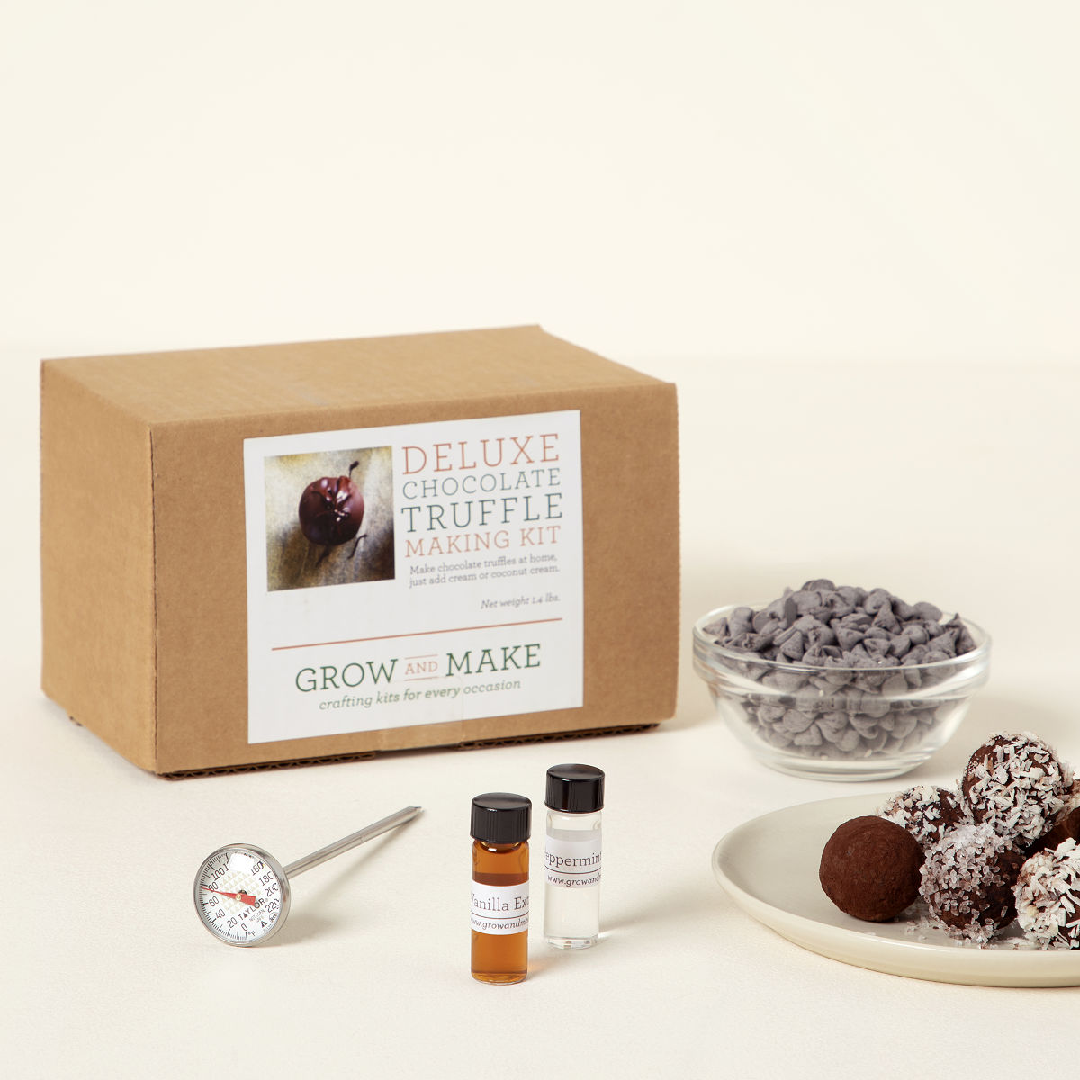 Make Your Own Chocolate Truffles Kit | Chocolate truffle recipe ...