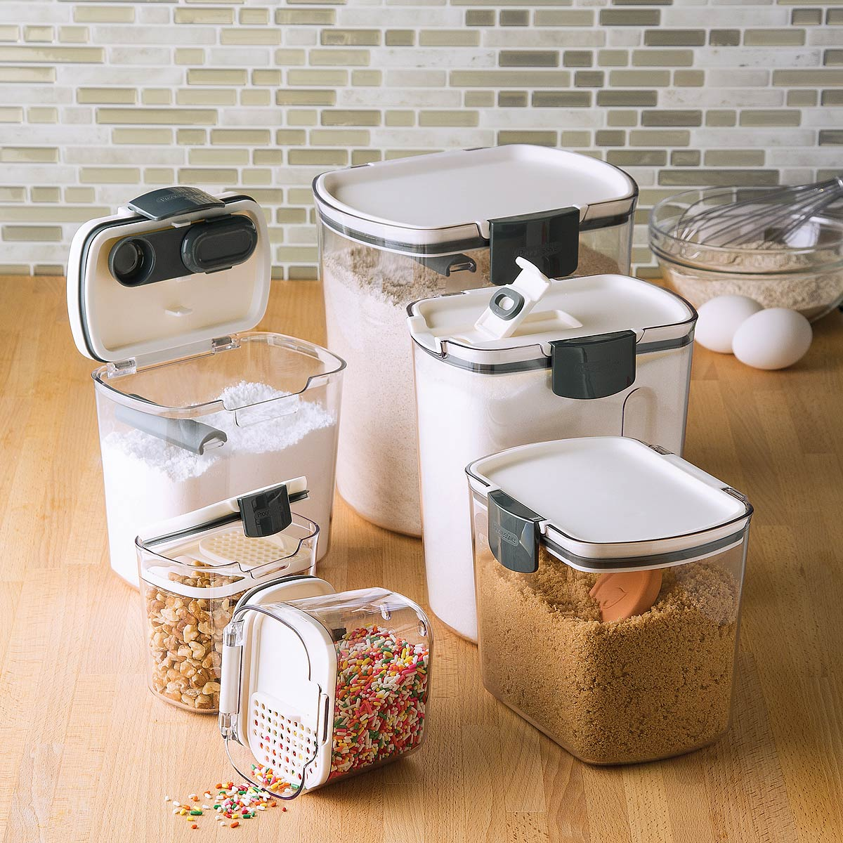 Kitchen Storage Containers airtight food storage containers - set of 6 | kitchen pantry