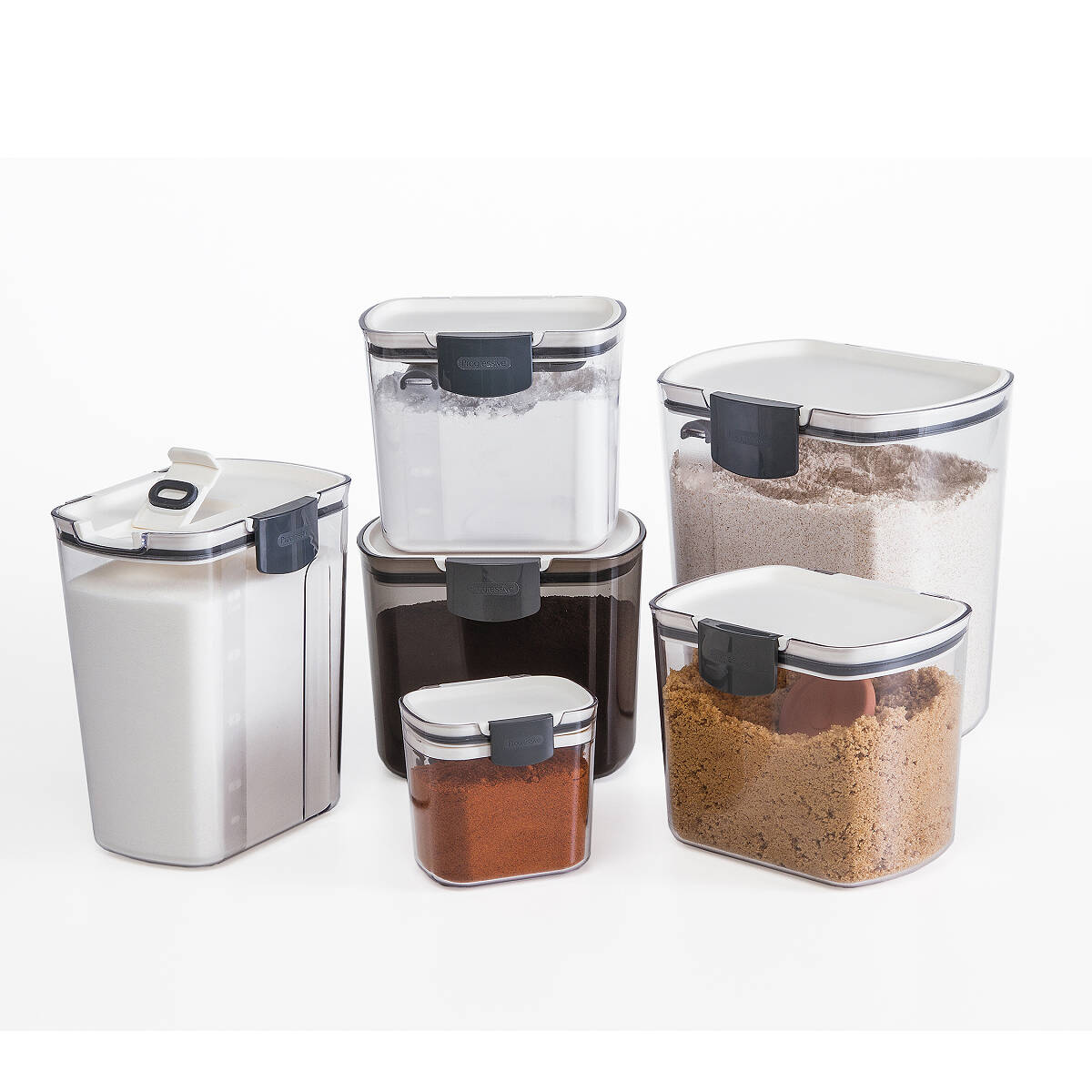 Airtight Food Storage Containers Set of 6 Kitchen Pantry