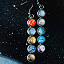 Solar System Mismatched Earrings 2 thumbnail
