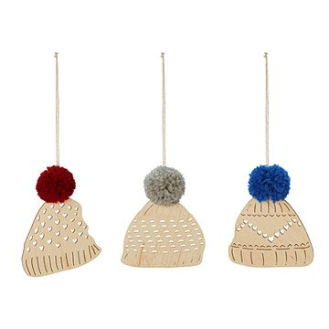 Winter Toques Ornaments - Set of 3