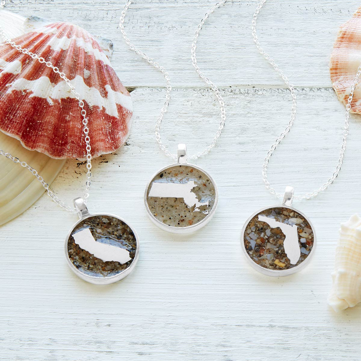 Custom sand geography necklace custom beach jewelry uncommongoods custom sand geography necklace 1 thumbnail aloadofball Image collections