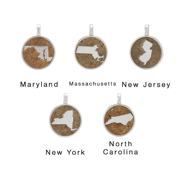 Custom Sand Geography Necklace