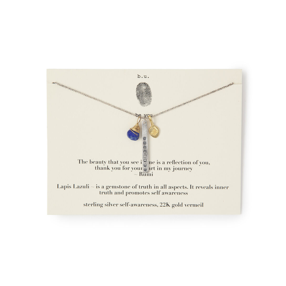 Thank you for your part in my journey necklace handmade lapis thank you for your part in my journey necklace 1 thumbnail aloadofball Images