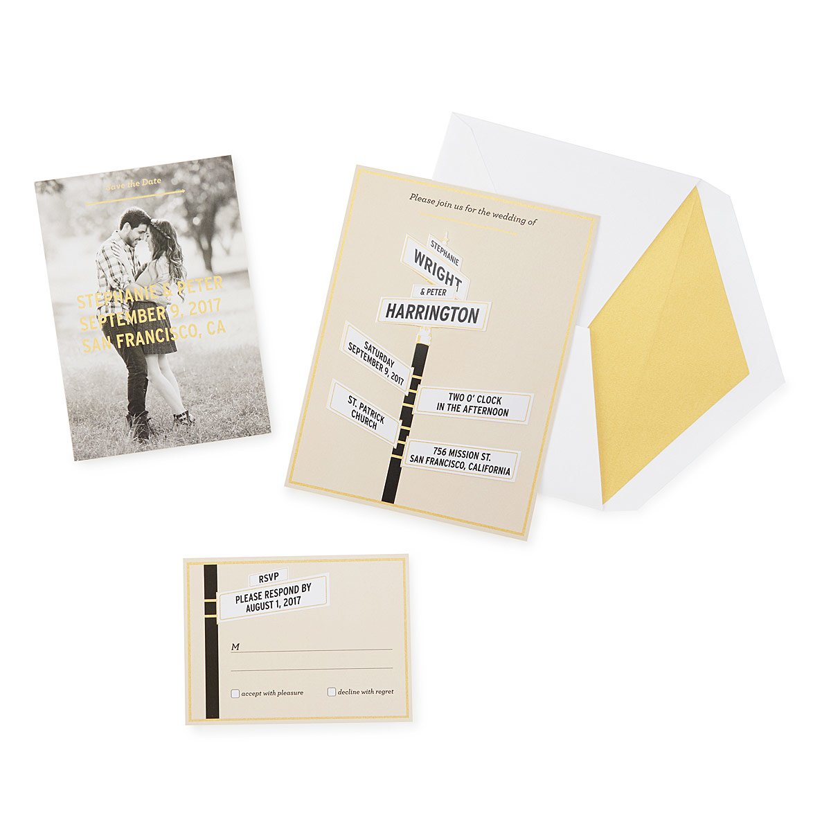 Intersection of Love Wedding Stationery | Unique Wedding Invitations ...