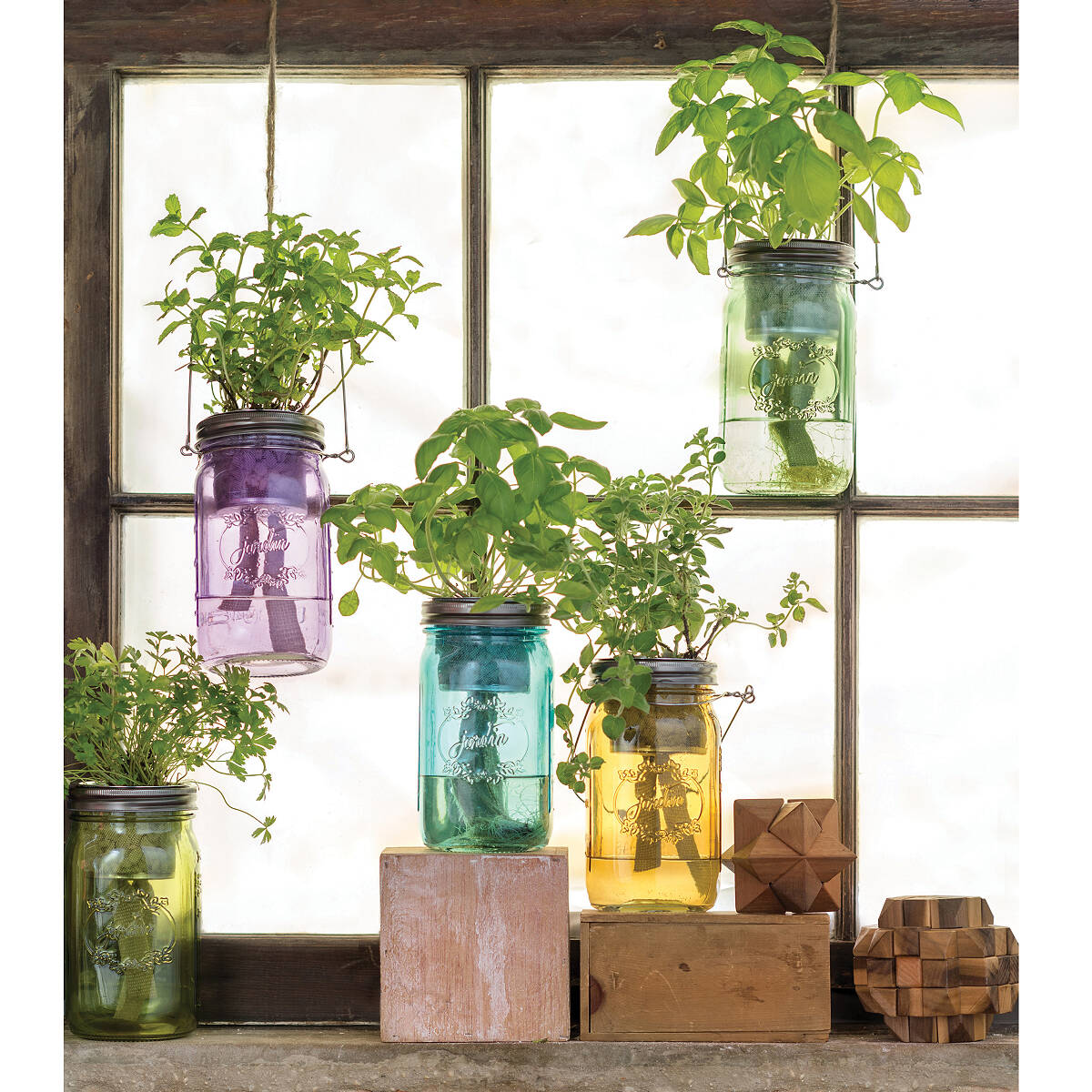 Mason Jar Indoor Herb Garden 4 Thumbnail