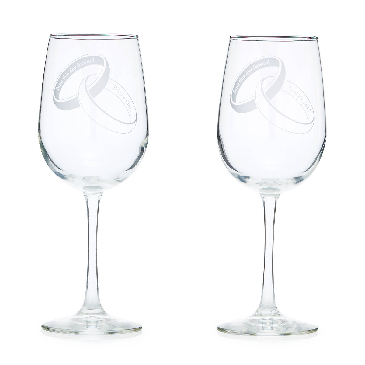 From this Day Forward Glassware | Custom Wine Glasses, Wedding ...