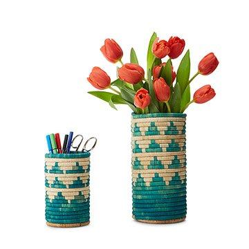 Handwoven Nesting Baskets Set