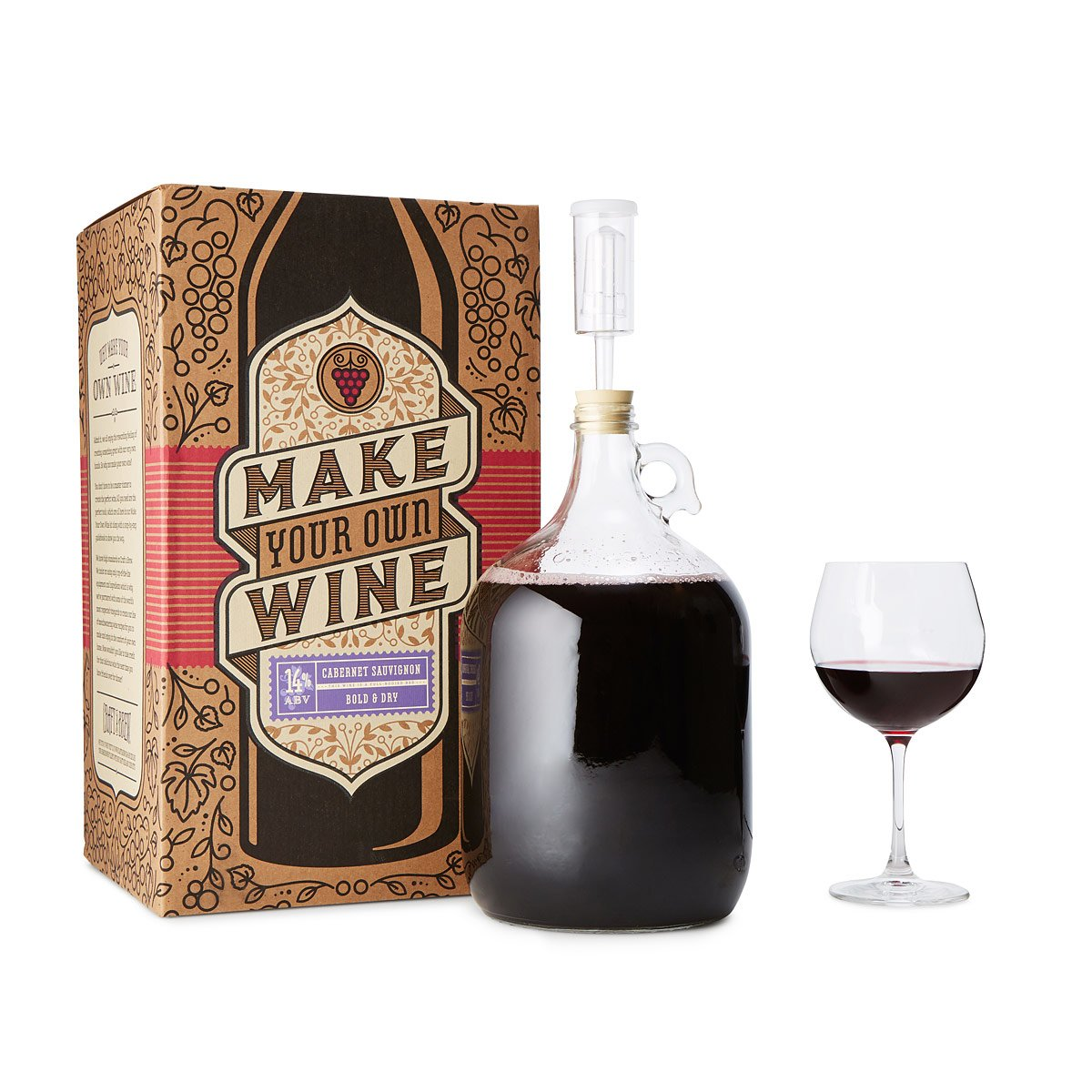 Diy kits craft projects uncommongoods cabernet sauvignon wine making kit solutioingenieria Image collections