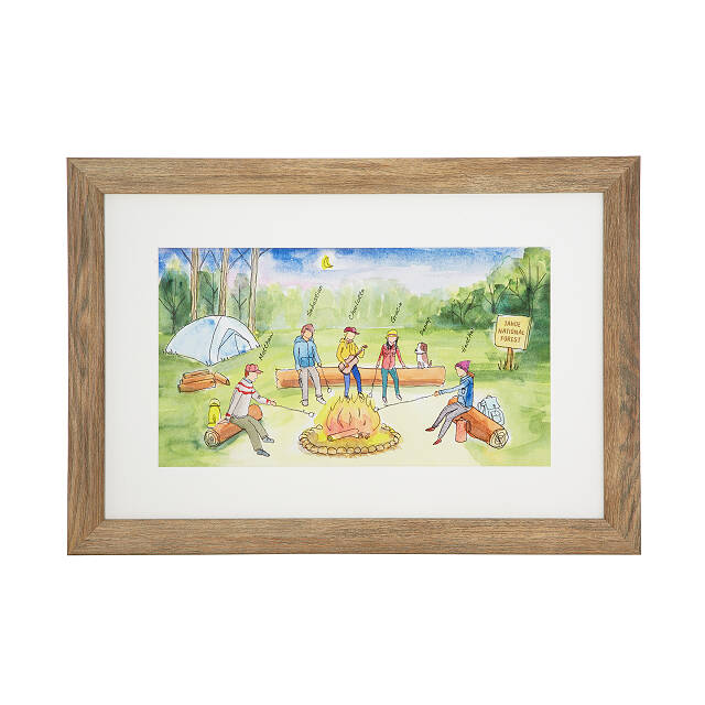 Personalized Campfire Family Art