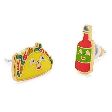Taco and Hot Sauce Mismatched Earrings