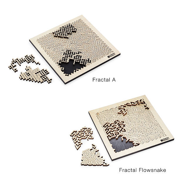 Wooden Fractal Puzzle Jigsaw Puzzles Wooden Puzzles Uncommongoods