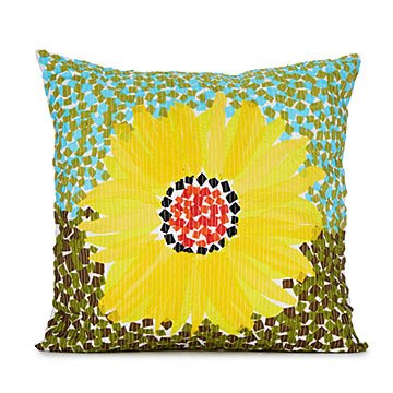 Mosaic Sunflower Pillow