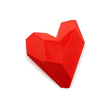 3D Printed Red Heart Pin
