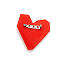 3D Printed Red Heart Pin 2 thumbnail