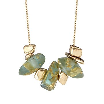 Gold Speckled Pebble Necklace