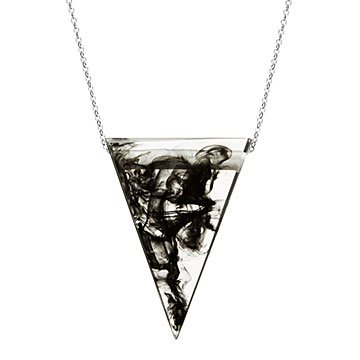 Smokey Triangle Marble Necklace