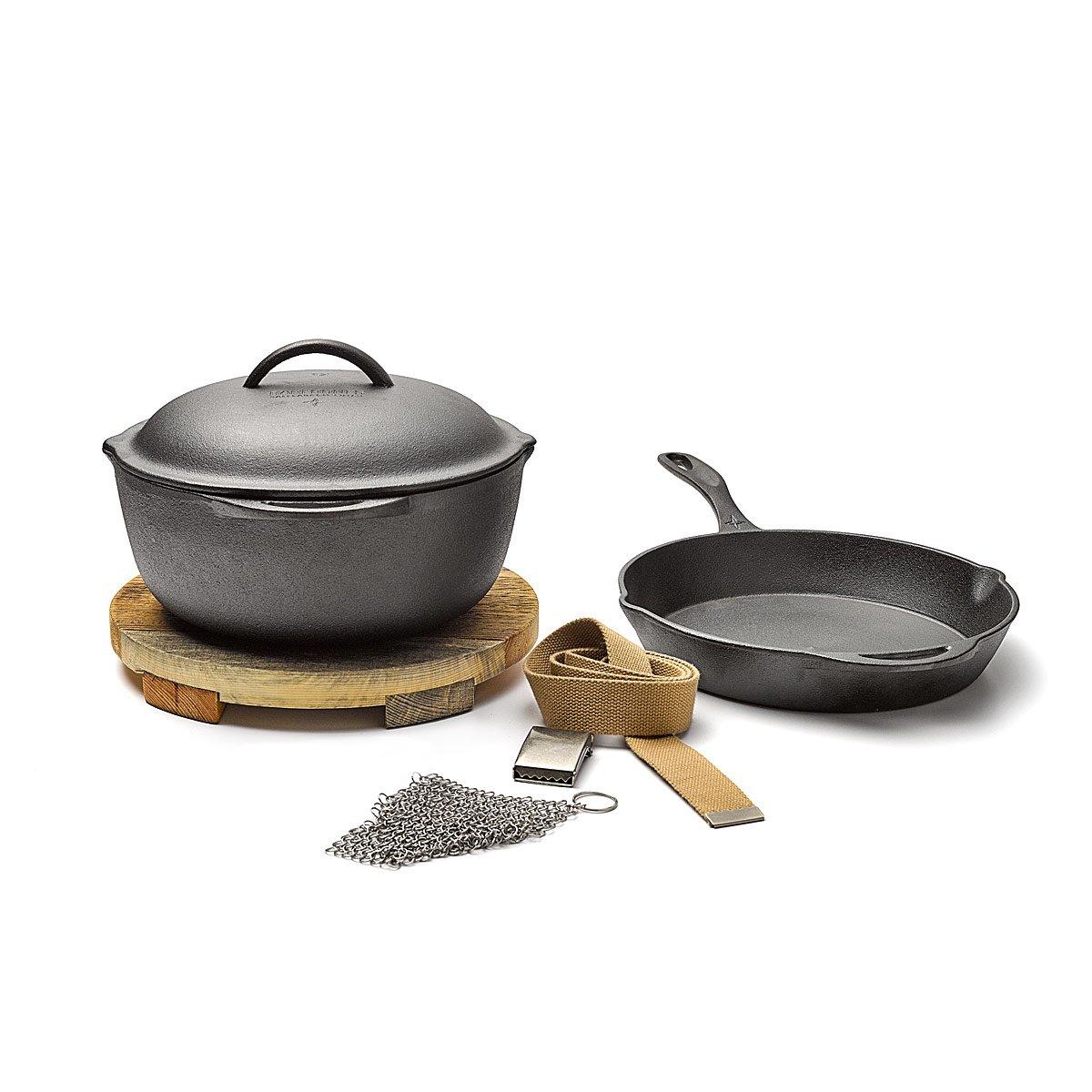 Cast iron kitchen trivet tea pot stand metal hot dish tray cookware - Cast Iron Cooking Set