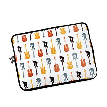 Guitar Pattern Laptop Case
