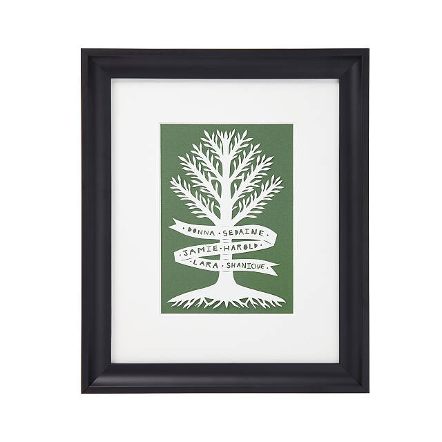 Family Tree Personalized Papercut