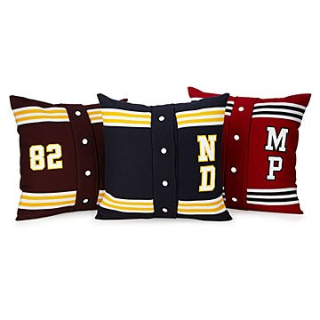 Personalized Sweetheart Letterman Pillow